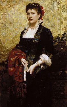 "Henryk Siemiradzki ""Portrait of Princess Maria Lubomirska"", 1881."