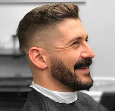 Wavy Swept Up Haircut with Undercut - Crew Cut Haircut