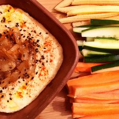Hummus de Lentejas y Cebollas Caramelizadas
