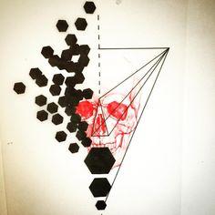 Geometric   Skull Mash Up. #art #artist #black #blackwork #blacktattoo #blackworkers #blackworkerssubmission #design #drawing #flashtattoo #flashworkers #geometric #geometrictattoo #ink #instaart #instagram #instaartist #illustration #linetattoo #pen #graphic #sketch #skull #skulltattoo #tattoo #tattooflash #tattoodesign #tattooapprentice #wip