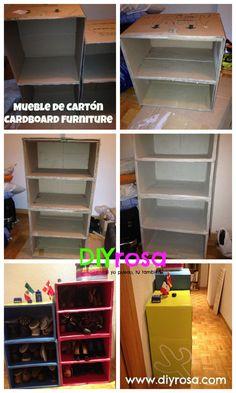 Mueble de Cartón DIY DIYrosa.com Facebook: fb.com/DIYrosa Twitter: @DIYrosa Instagram: diyrosa