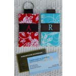 In The Hoop :: Key Rings, Key Fobs :: Round Monogram Key Chains - Embroidery Garden In the Hoop Machine Embroidery Designs