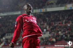 All time topscorer van FC Twente, Blaise   N'Kufo.