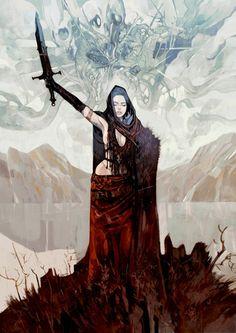 Inspiration for the Queen of Elwaye. #MetalShadow | Jakub_Rebelka_Art_Digital_BROKEN