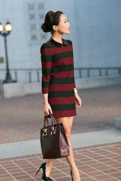 Marigold Stripes :: Shift Dress