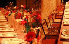 Silleria y vajilla para bodas vintage. Decoración banquete bodas vintage