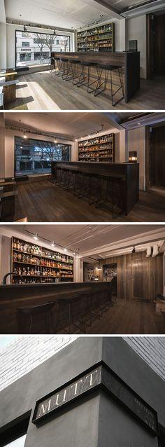 [No.1 뮤트바] pub 펍 인테리어 9평, 금속과 고재로 만든 바, 노출 콘크리트 천장