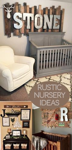 Super cute baby boy nursery room ideas - I LOVE a rustic nursery - for boys OR for girls!