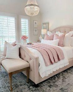 Cute and Modern Bedroom Interior Design Ideas 2018 Part bedroom ideas; bedroom ideas for small room; Guest Bedroom Decor, Small Room Bedroom, Modern Bedroom, Master Bedroom, Guest Room, Diy Bedroom, Bed Room, White Wall Bedroom, White Room Decor