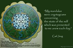 """C.G. Jung: """"The mandala is… the path to the center, to individuation. """" – Jung Currents"""