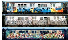 subways artists then and now From top: United Artists by Seen UA, 1982; Criminals invading again by the CIA crew, 1981; Flite, Alia, Kaze, 1982. Skeme says: 'Graffiti culture was a secret among writers, and writers knew each other's work. The public didn't know what they were looking at; all they saw was a scribble.'