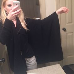 Batwing 100% Cashmere Sweater black 100% Cashmere worn once perfect condition. Batwing sleeves very warm and soft. NWOT 360 Cashmere Tops