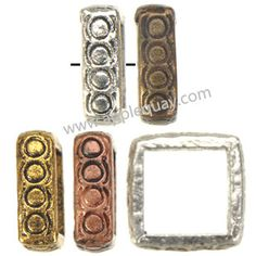 Zinc Alloy Square Ring Beads,Plated,Cadmium And Lead Free,Various Color For Choice,Approx 11*11*3.5mm,Hole:Approx 9.5mm,Sold By Bags,No 002279