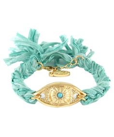 Ettika Vintage Evil Eye Charm Bracelet
