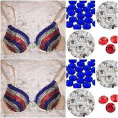 "Red White & Blue ""Triple Threat"" Bedazzled Diamond Bra! #Patriotic #USA #CrystalBra #BlueCrystalBra #RedCrystalBra #Stripes Jasmine Costume Women, Diy Bra, Designer Bra, Red Sapphire, Rave Outfits, Undercover, Blue Crystals, Red White Blue, Costumes"