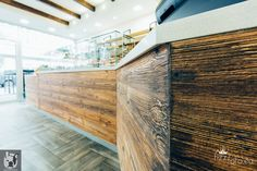 Vintage wood in a traditional Italian bakery. Interior design Otto von Berlin.