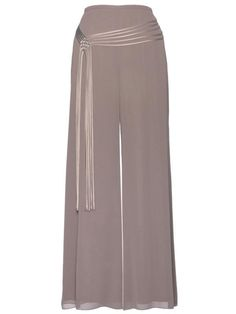 £125 Cappuccino Spaghetti Belt Trim Trousers