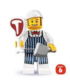 LEGO Figurines à Collectionner: Boucher Mini-Figurine (Série 6): Amazon.fr: Jeux et Jouets