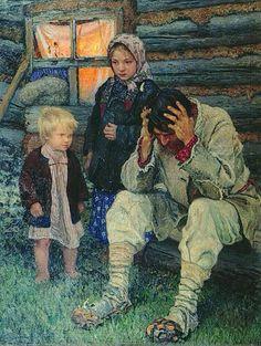 Богданов-Бельскийボグダノフ=ベリスキー(1868ー1945)「Горе(悲哀)」(1919)