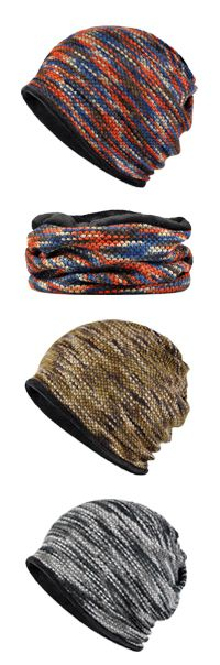65%OFF&Free shipping. Unisex, Cotton, Knitted, Multicolor Thickening Warm Beanie Hats. Outdoors&Both Hats And Scarf Use. Shop now~