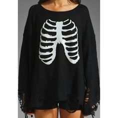 Wildfox Couture Lennon Sparkly Skeleton Sweater ($209) ❤ liked on Polyvore
