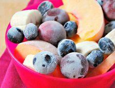 After-School Snack: Frozen Fruit Salad