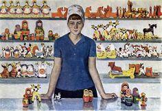 Семёнов Вячеслав Матвеевич (1936- 1980-е) «Русский сувенир» 1966