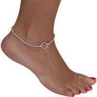 Auburn Tigers Rhinestone Anklet #WarEagle  Check out jewelry for every team here: http://pin.fanatics.com/pages/League_Jewelry/source/pin-fanscl-jewelry-sclmp
