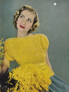 Bobble Stitch Jumper from Stitchcraft Magazine, © 1949 | free pattern download via zilredloh.com
