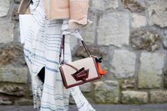 Best Street Style Details Of Paris Fashion Week AW17, square shoulder bag.