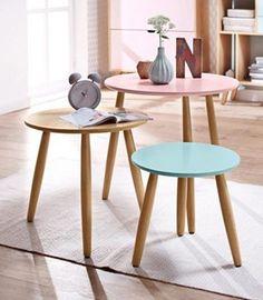 Home »Pastel« affaire Beistelltisch, 3er-Set #erstewohnung #tisch #möbel #interior #uni #semesterbeginn #einrichtung #skandinavisch #design #beistelltisch