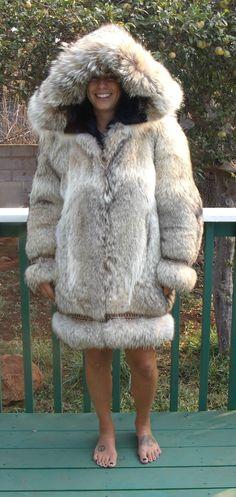 Wolf fur Parka , Alaska Fur Gallery