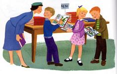 """https://flic.kr/p/5mgRG   Billy's Friends   A """"Dick and Jane"""" type school book for kids. Illustrations by Dagmar Wilson, 1957."""