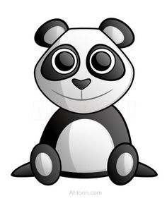 A cute cartoon panda with a nice smile is now available. :)
