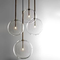 Modern Clear Glass Orb Pendant Lighting 12308