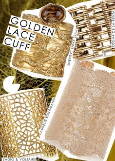 gold lace cuff intro runway diy