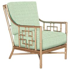 Gold bamboo Beverly Lounge Chair