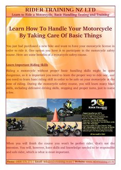 During the motorcycle safety course, you will learn many Basic Handling Skills Test, including defensive driving skills, stopping and proper turns, just to name a few.