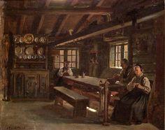 Interiør fra Gulsvik i Hallingdal d'Adolph Tidemand