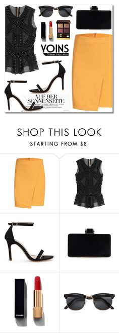 """""""Yoins #12"""" by aida-nurkovic ❤ liked on Polyvore featuring Balmain, Chanel, Tom Ford, polyvoreeditorial, polyvorefashion, polyvoreset and yoins"""