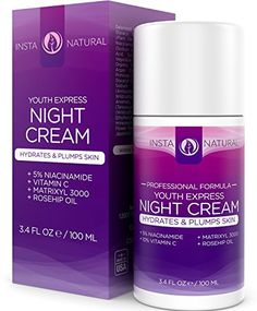 Night Cream Moisturizer for Face With 5% Niacinamide - Vitamin B3, Vitamin C, Argan & Rosehip Oil - Natural & Organic - Reduces Appearance of Acne, Skin Spots, Wrinkles & More - InstaNatural - 3.4 OZ InstaNatural http://www.amazon.com/dp/B00OHXPMCM/ref=cm_sw_r_pi_dp_qqwjwb1W63AZC