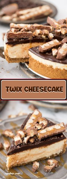 Delicious cheesecake twix recipe, having all your favorite flavors on twix! has a very crispy cake texture of graham crackers, spinning cara. Low Carb Cheesecake, Cheesecake Recipes, Cookie Recipes, Dessert Recipes, Dessert Ideas, Cheesecake Desserts, Pumpkin Cheesecake, Cookie Ideas, Keto Friendly Desserts