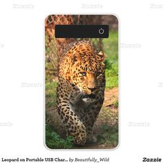 Leopard on Portable USB Charger Power Bank