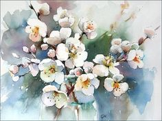 Watercolors by Maria Stezhko (Акварели Марии Стежко): Spring blossoms