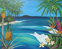 TROPICAL FRUIT ART Prints - Official website for Shannon McIntyre, Artist, Professional Surfer, On Surfari and Family Adventure TV show host and producer. Purchase prints, art, order original paintings and learn about Shannon's latest adventures and creative projects.