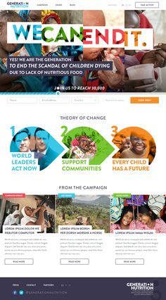 Generation_nutrition-wip Charity Websites, Banks Advertising, Pag Web, Theory Of Change, Website Themes, Website Ideas, Act For Kids, Social Projects, Newsletter Design
