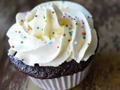 Chocolate Cupcakes with vanilla frosting!