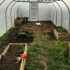 Day 1 of #tunnelgrowing - moving existing raised beds to run along the old path under which is some mixed hardcore. #growyourown Grow Your Own, Raised Beds, Old Things, How To Make, Garden Bed