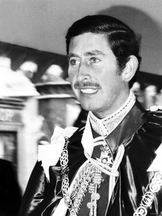 Prince Charles - I'd never seen him sporting the mustache before!