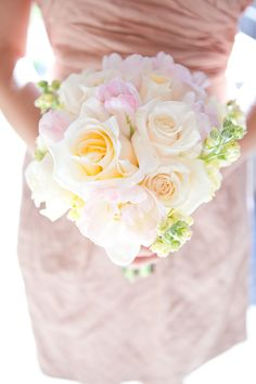 Pink & Blush Bouquet ~ http://forweddingflowers.com, Photography by kellyhornberger.com